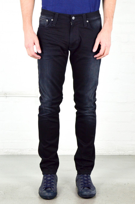 Men's Nudie Thin Finn Black Smoke