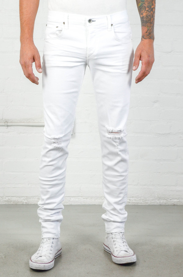 Men's Rag and Bone Aged White FIT 1