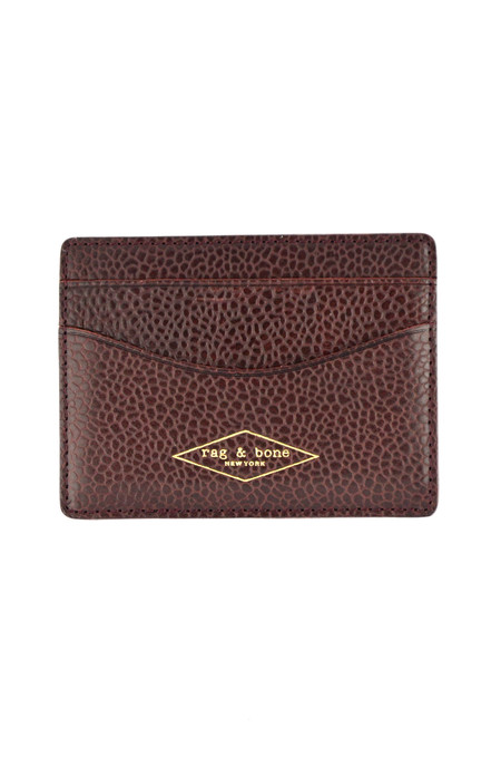 Men's Rag and Bone Hampshire Pebbled Oxblood Cardholder