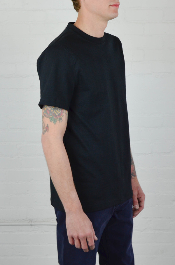 Men's Welcome Stranger Black 8 oz Bison Tee