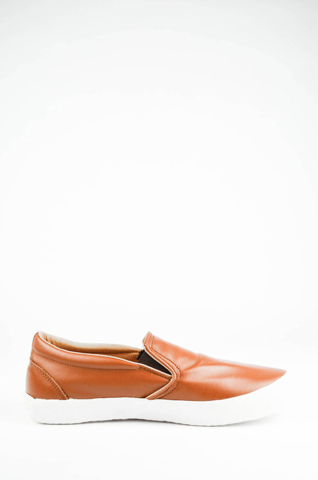 YMC Rust Leather Slip on Trainer