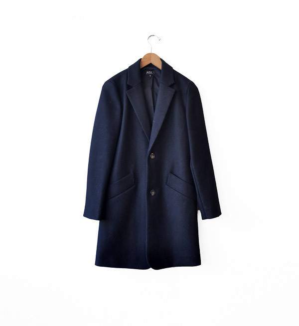 A.P.C. Dark Navy Italian Overcoat