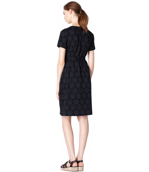 A.P.C. Navy Cherry Dress