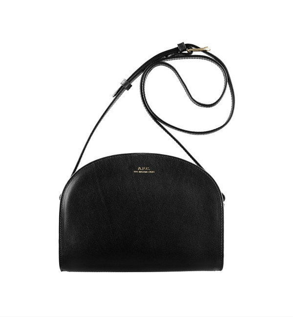 A.P.C. Noir Half Moon Bag