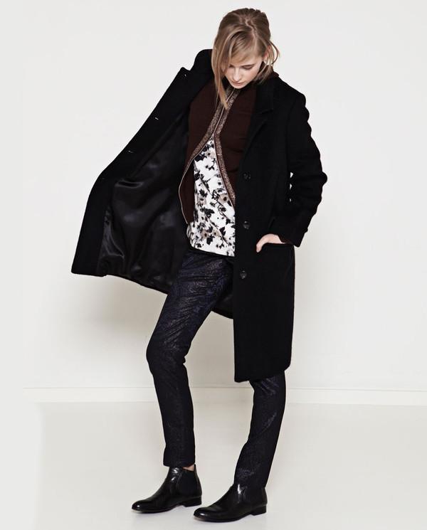 Naja Lauf - Black Mohair Malin Coat
