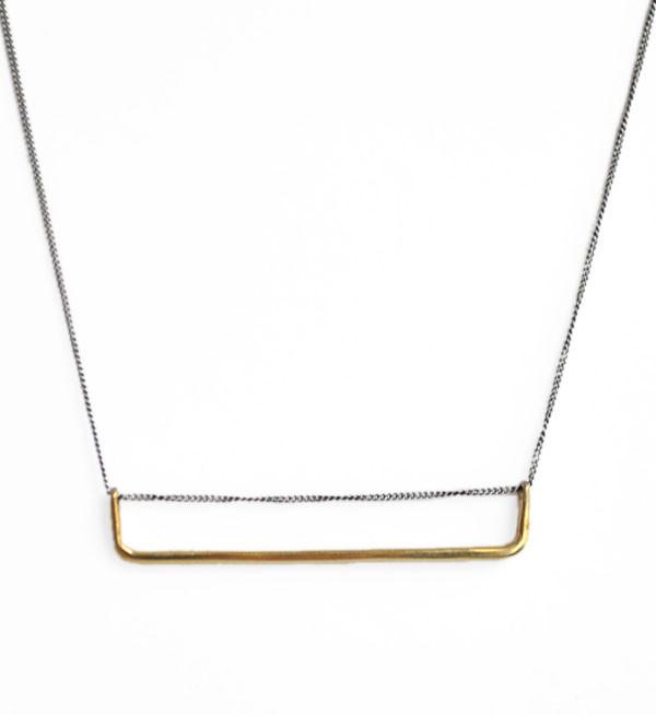 Fay Andrada Silver & Brass Lautta Necklace