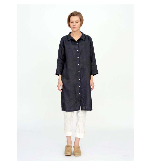 Fog Linen Grey Jenn Long Shirt
