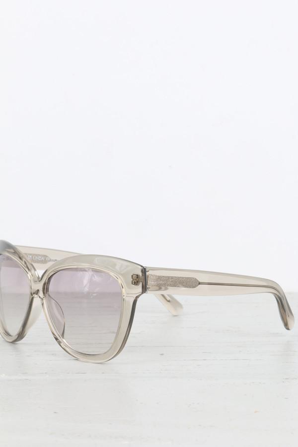 Linda Farrow Chunky Cat Eye Sunglasses