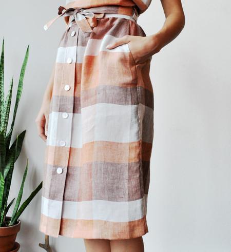 No.6 Terracotta Parson Skirt