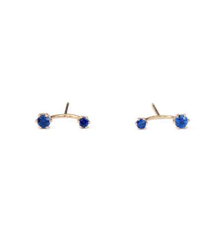 Satomi Kawakita Twin Sapphire Stud Earrings