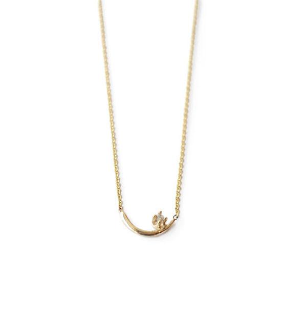 WWAKE White Diamond Arc Lineage Necklace