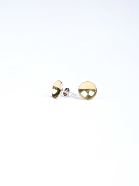 Another Feather Brass Cup Studs