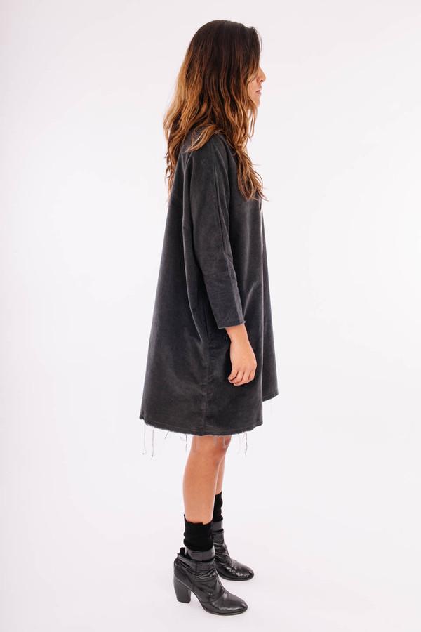 Black Crane Painter Dress (Dark Shadow)