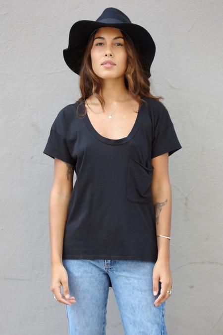 Bobi Scoop Neck T Shirt