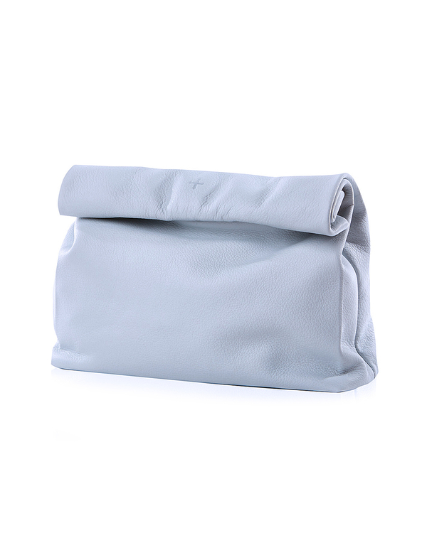 Marie Turnor Lunch Clutch in Chambray Pebble Leather