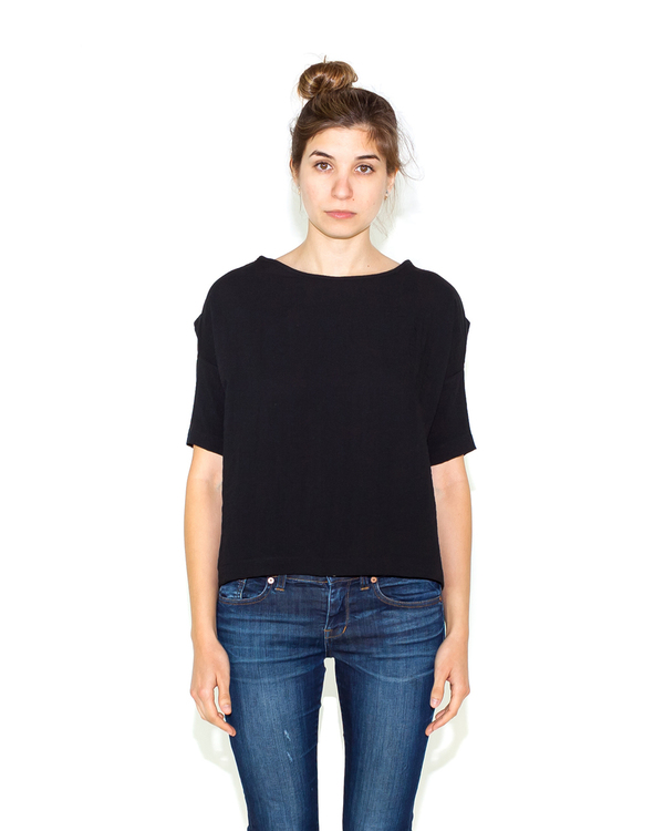 Shaina Mote Bateau Top in Black