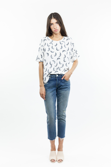 Just Female Fly Blouse - Off White
