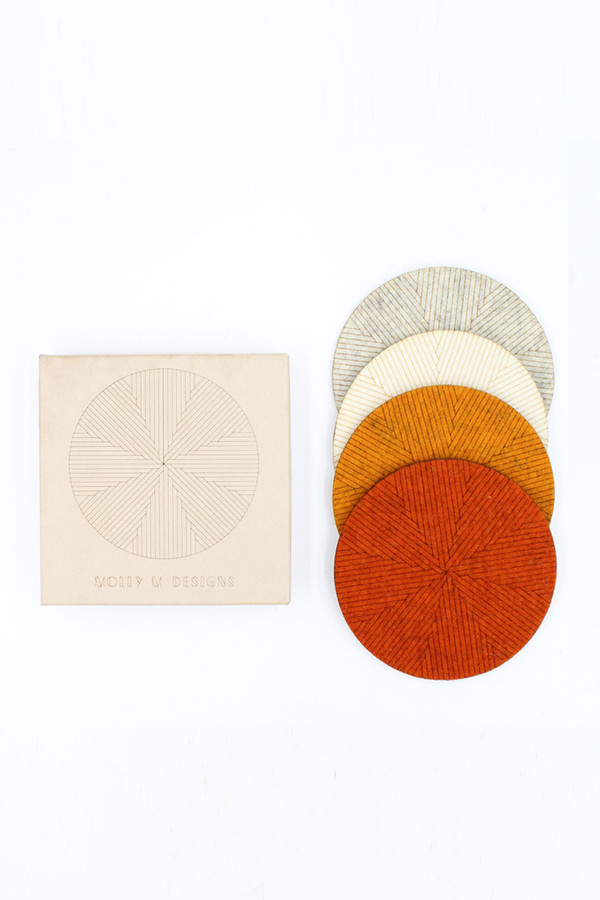 Molly M. Molly M Designs Felt Han-Masa Coasters