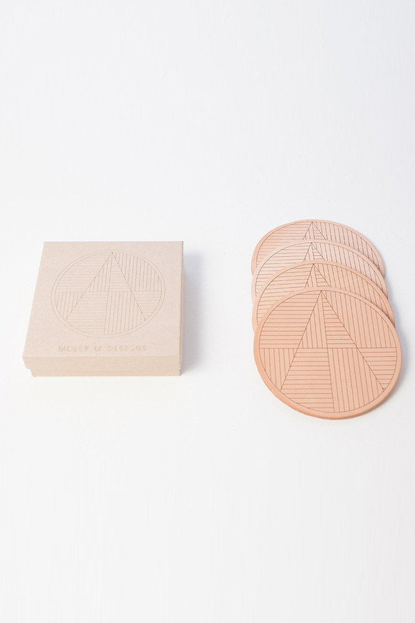 Molly M. Molly M Designs Sol Leather Coasters