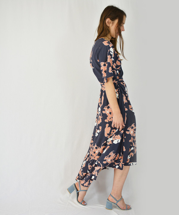 Just Female Leaf Wrap Dress