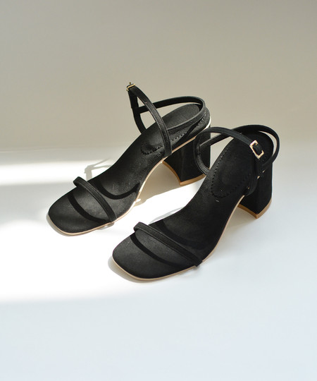 Rafa Black Simple Sandal
