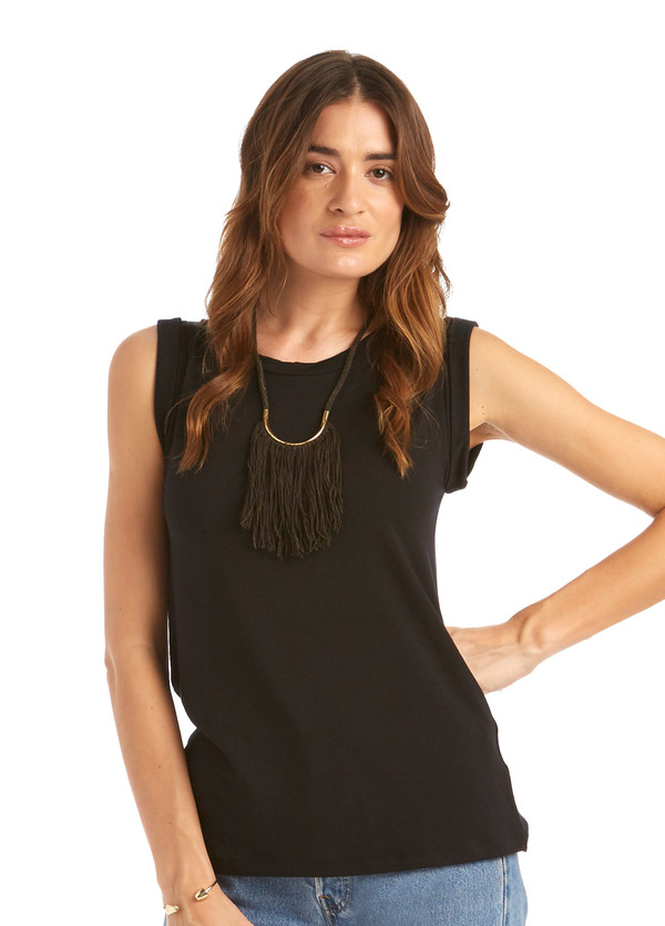 Erin Considine Lunate Fringe Necklace Brass