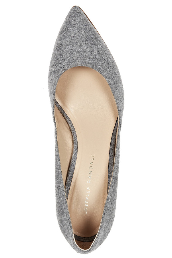 Loeffler Randall - Pari Classic Stiletto Pump in Grey Melton Wool