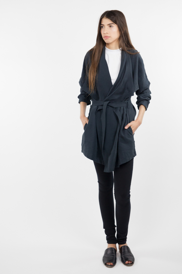 Just Female Molly Short Trench - Black