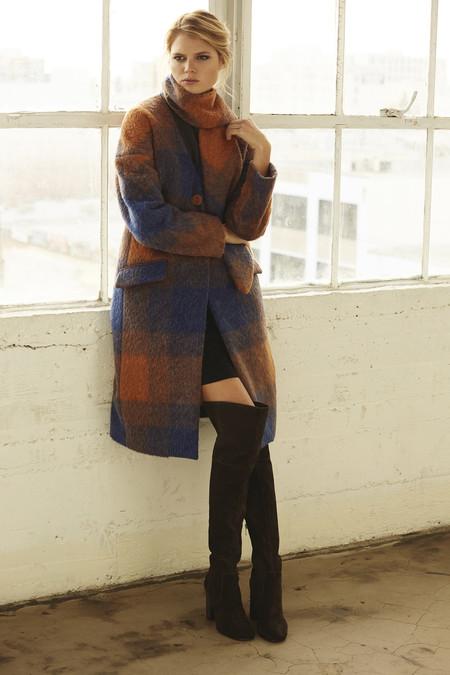 Cosette Clothing Margo Mohair Plaid Coat