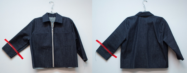 Alexa Stark Dark Denim Jacket