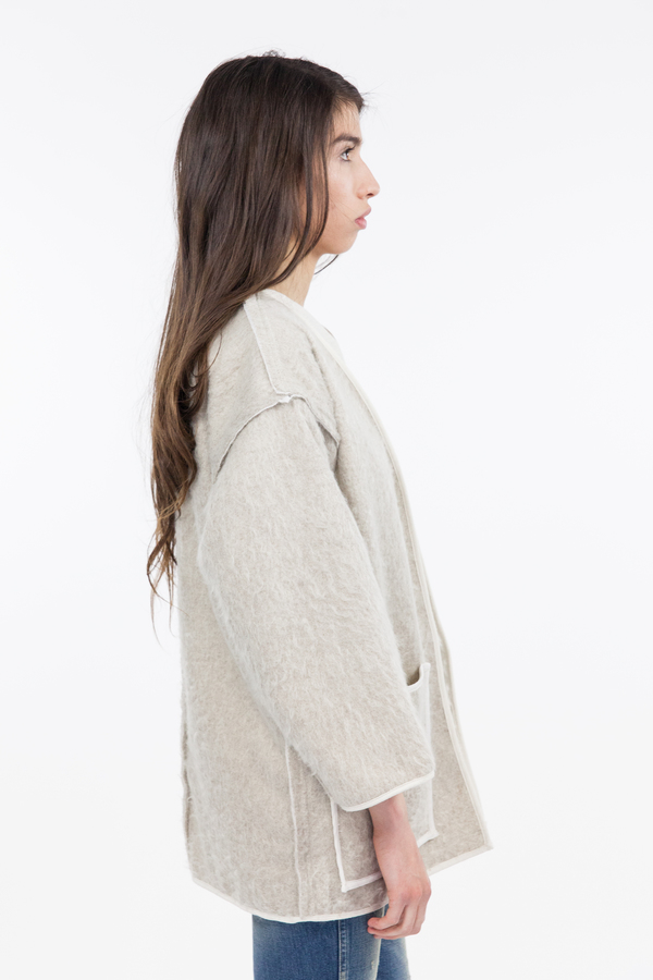 Objects Without Meaning Kimono Jacket - Oatmeal