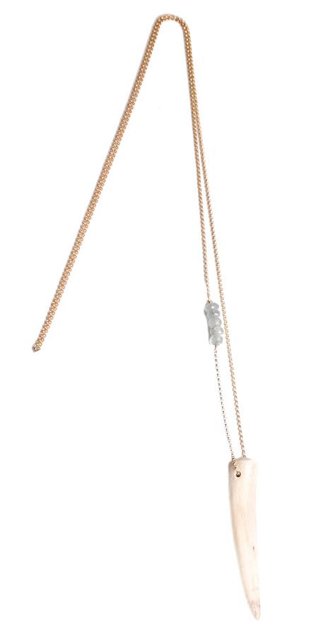 James and Jezebelle Antler & Aqua Marine Necklace