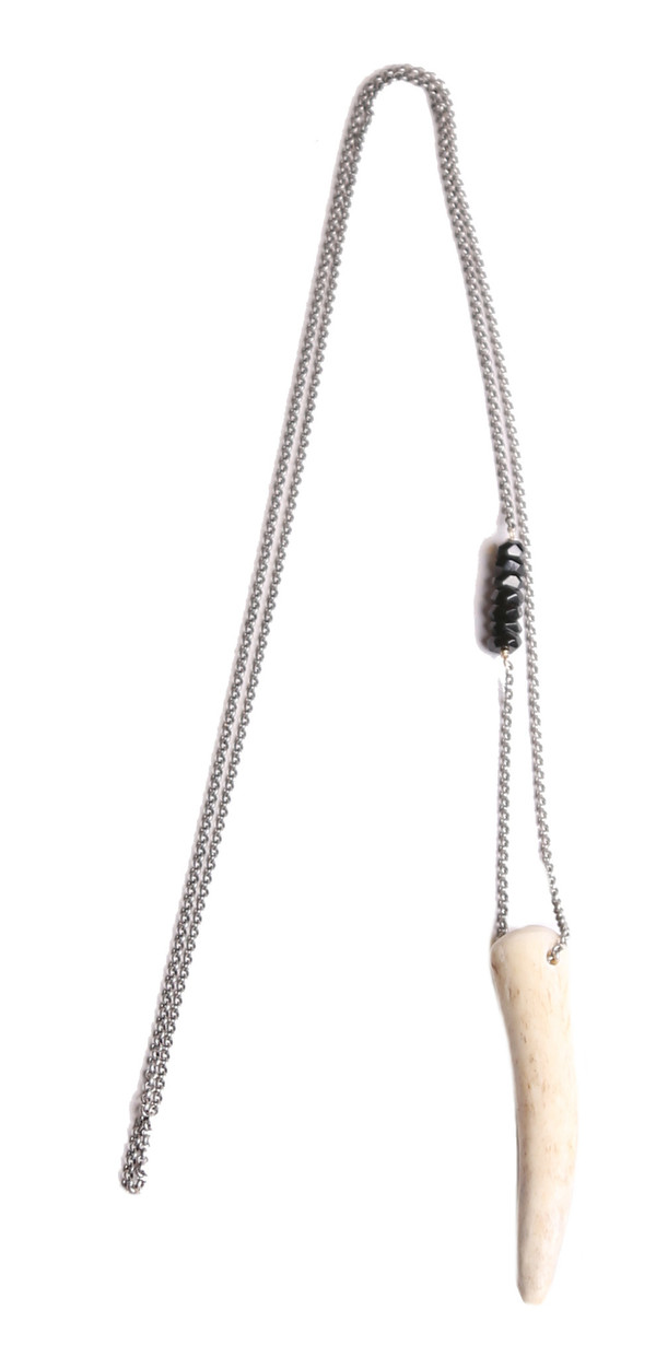 James and Jezebelle Antler & Onyx Necklace