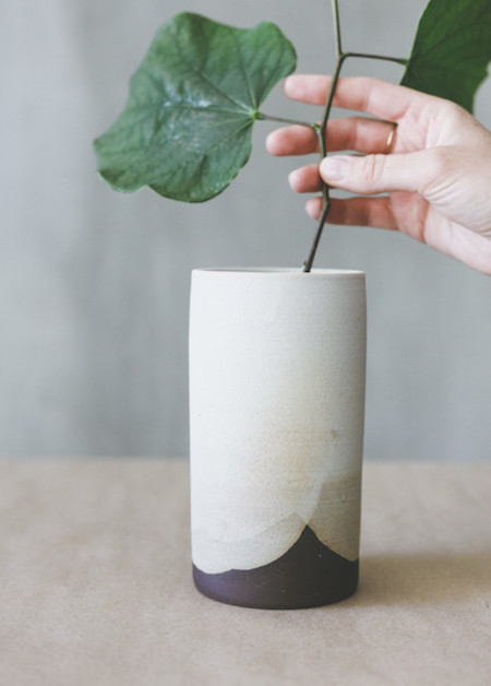 Notary Ceramics - Simple Cylinder Vase in Satin Grey