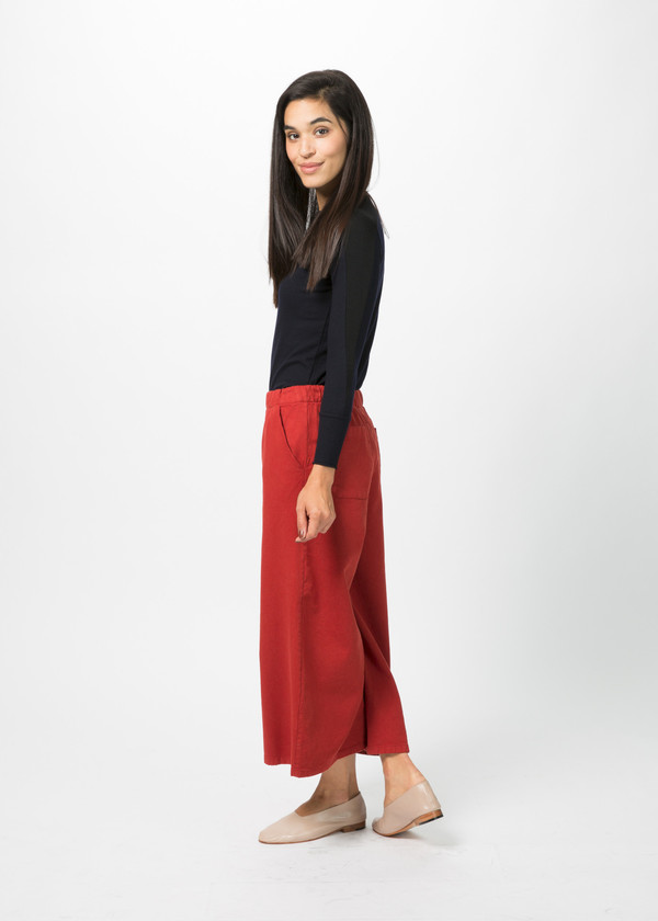 Labo.Art Elle Cropped Wide Leg Pant