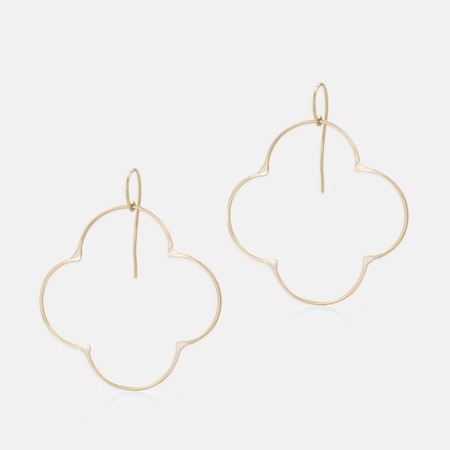 Amy Nordstrom Clover Hoop Earrings