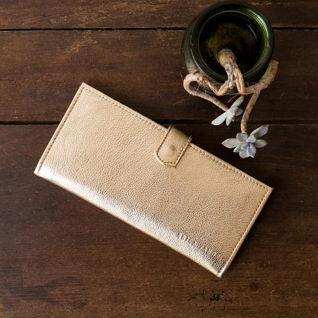 Erica Tanov - Metallic Leather Long Wallet