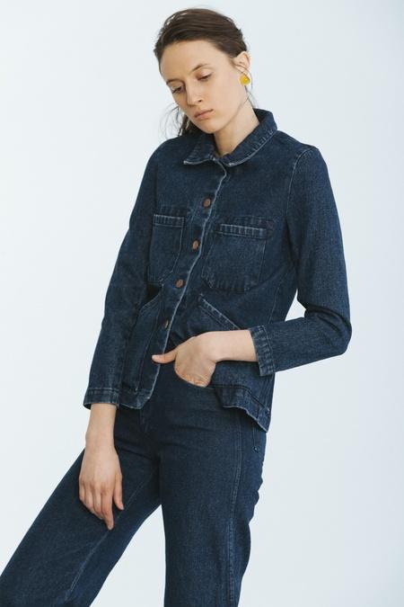 Carleen Triangle Pocket Jacket Blue