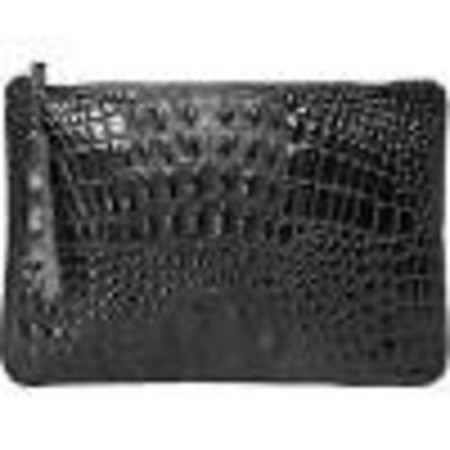 Oliveve queenie in black hornback embossed cow leather
