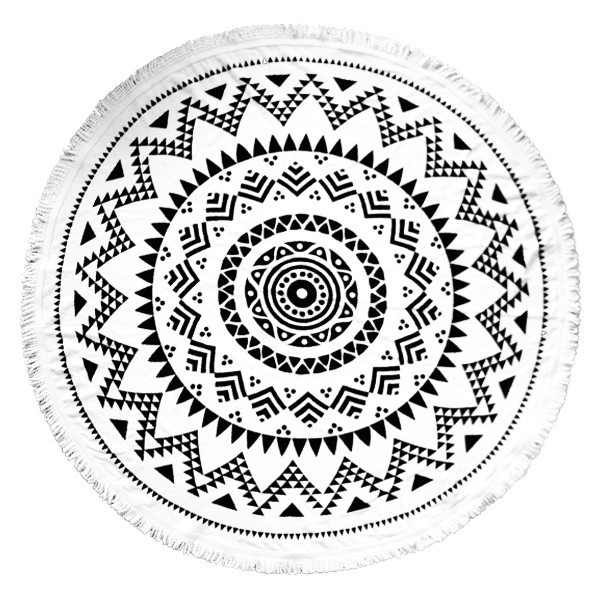 Tofino Towel Co. Long Beach White Edition - Round Towel