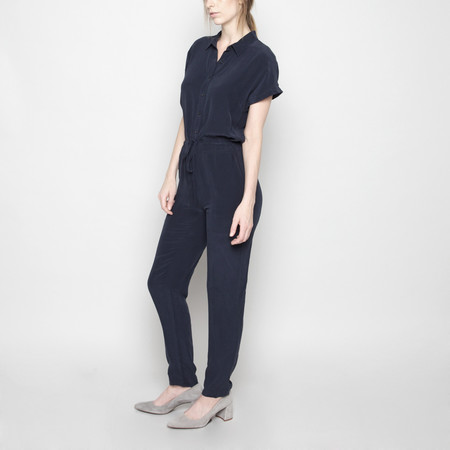 7115 by Szeki Silk Jumpsuit FW16 - Navy