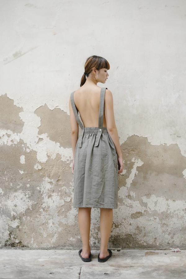 Seeker Studios Convertible Overall Dress - Grey