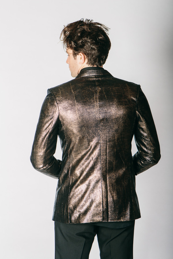 Men's Any Old Iron Bronze Animal Print Jacket