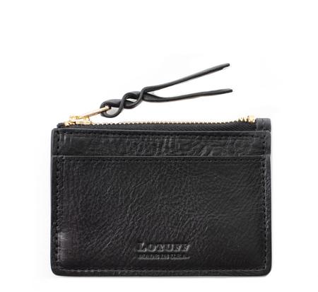 Lotuff Leather Black Card Case Wallet