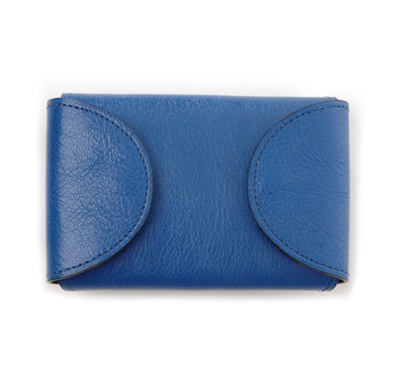 I Ro Se Blue Fold Card Case