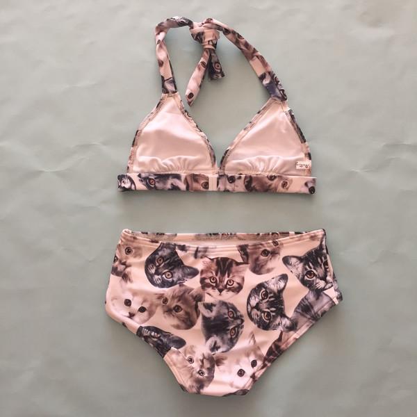 Bathing Belle kitten bikini