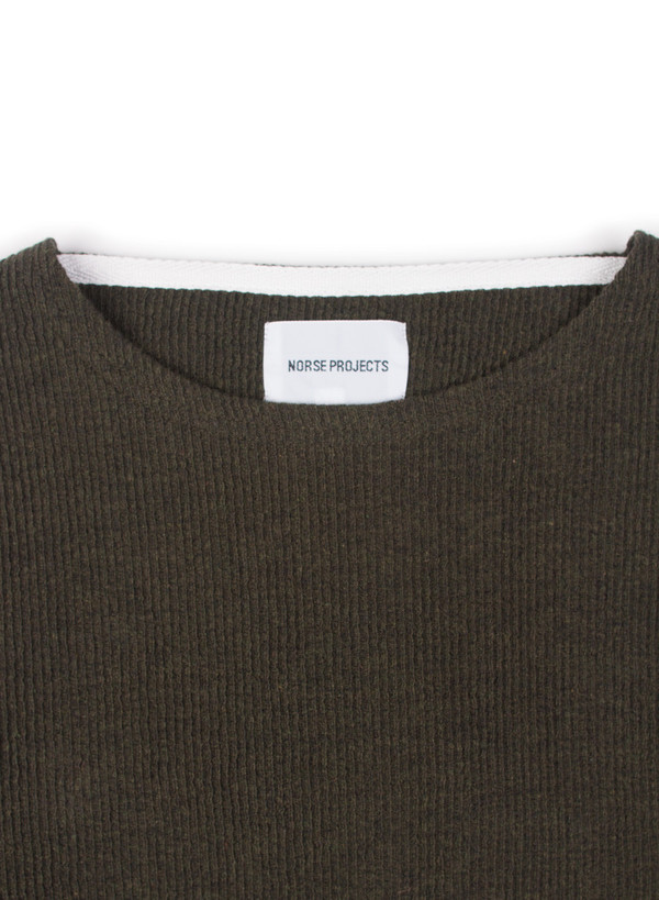 Men's Norse Projects Godtfred Texture Rib Dried Olive