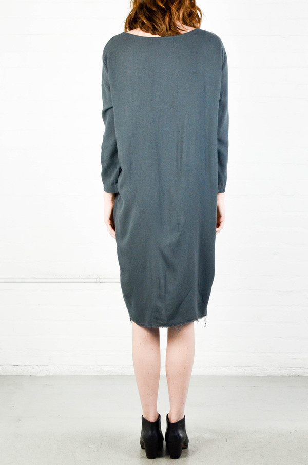 Black Crane Dark Shadow Slim Dress