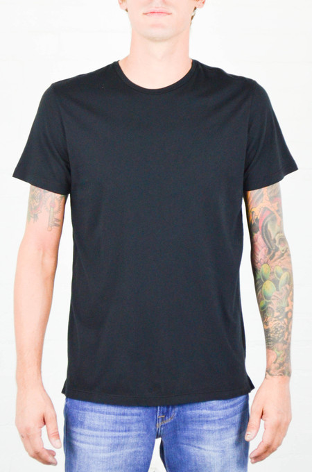 Men's FRAME Denim FRAME Black Classic Crew Neck Tee