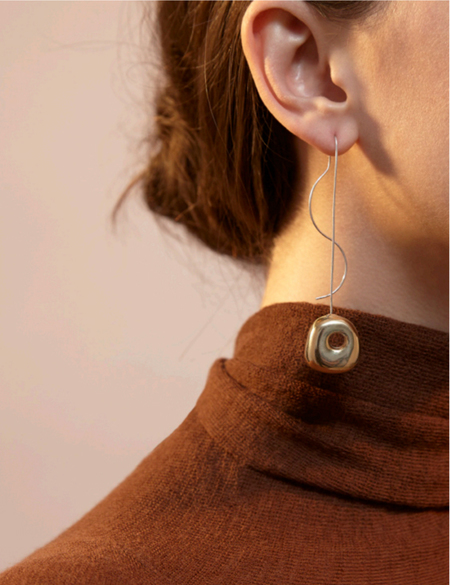 Leigh Miller Two-Tone Hepworth Drop Earrings